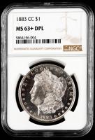1883-CC Morgan Silver Dollar (NGC MS63+ DPL) at PristineAuction.com