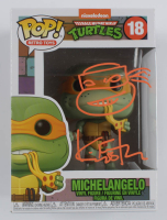 "Kevin Eastman Signed ""Teenage Mutant Ninja Turtles"" #18 Michelangelo Funko Pop! Vinyl Figure with Hand-Drawn Turtles Sketch (Beckett COA) at PristineAuction.com"