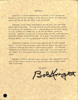 """Bob Knight Signed """"Basketball"""" Letter (Steiner COA) at PristineAuction.com"""