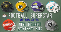 Schwartz Sports Football Superstar (NO DUPLICATES) Signed Mini Helmet Mystery Box - Series 5 (Limited to 75) – 75 DIFFERENT PLAYERS!! at PristineAuction.com