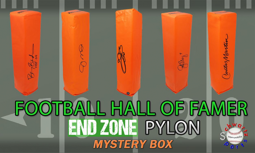 Schwartz Sports Football Hall of Famer Signed Endzone Pylon Mystery Box - Series 2 (Limited to 100) at PristineAuction.com