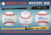 Schwartz Sports Baseball DOUBLE PLAY Mystery Box - Series 1 (Limited to 75) (1 Baseball & 1 Bat - IN EVERY BOX!!!) at PristineAuction.com