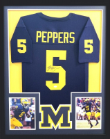 Jabrill Peppers Signed Michigan Wolverines 34x42 Custom Framed Jersey (JSA COA) at PristineAuction.com