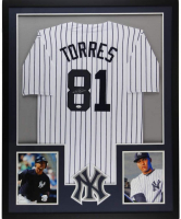 Gleyber Torres Signed 34x42 Custom Framed Jersey (JSA COA) at PristineAuction.com