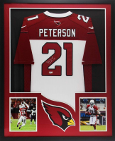 Patrick Peterson Signed Cardinals 34x42 Custom Framed Jersey (Radtke COA) at PristineAuction.com