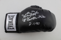 "James ""Buster"" Douglas Signed Everlast Boxing Glove Inscribed ""I Beat Iron Mike 2-11-90"" (Schwartz Sports COA) at PristineAuction.com"