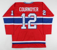 """Yvan Cournoyer Signed Jersey Inscribed """"H.O.F. 1982"""" (JSA COA) at PristineAuction.com"""