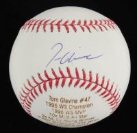 Tom Glavine Signed LE OML Laser Engraved Baseball (JSA COA) at PristineAuction.com