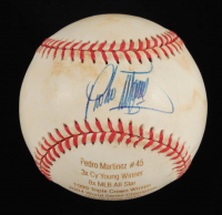 Pedro Martinez Signed LE OAL Laser Engraved Baseball (JSA COA) at PristineAuction.com