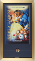 """Beauty & The Beast"" 15x26 Custom Framed Movie Release Poster With Locket at PristineAuction.com"