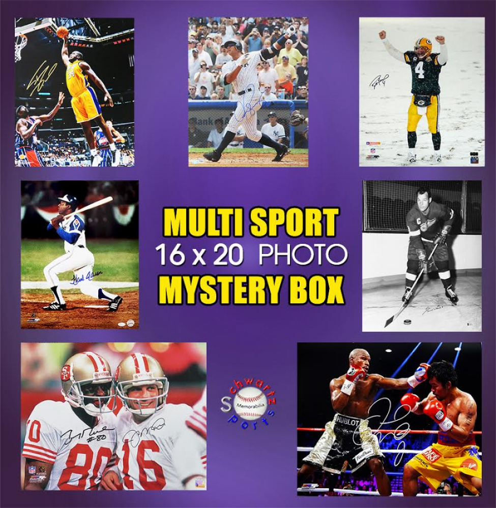 Schwartz Sports Multi Sport Signed 16x20 Photo Mystery Box – Series 7 (Limited to 150) at PristineAuction.com