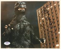 "Kenpachiro Satsuma Signed ""Godzilla"" 8x10 Photo (PSA Hologram) at PristineAuction.com"