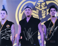 "William Zabka, Xolo Mariduena, & Jacob Bertrand Signed ""Cobra Kai"" 11x14 Photo (Radtke COA) at PristineAuction.com"