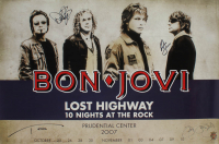 "Bon Jovi ""Lost Highway"" 24x36 Poster Signed by (4) with Jon Bon Jovi, Richie Sambora, Tico Torres, & David Bryan (JSA ALOA) at PristineAuction.com"