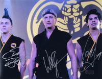"William Zabka, Xolo Mariduena & Jacob Bertrand Signed ""Cobra Kai"" 11x14 Photo (Radtke COA) at PristineAuction.com"