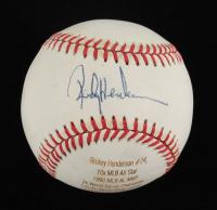 Rickey Henderson Signed LE OAL Laser Engraved Baseball (JSA COA) at PristineAuction.com