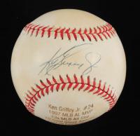 Ken Griffey Jr. Signed LE OML Career Stat Engraved Baseball (JSA COA & Steiner Hologram) at PristineAuction.com