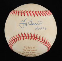 "Yogi Berra Signed LE OAL Laser Engraved Baseball Inscribed ""HOF 72"" (JSA COA) at PristineAuction.com"