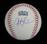 Steve Pearce Signed 2018 World Series Baseball (Fanatics Hologram & MLB Hologram) at PristineAuction.com
