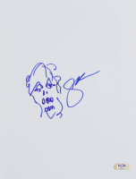 "Greg Nicotero Signed ""Walking Dead"" 8x10 Hand-Drawn Sketch (PSA COA) at PristineAuction.com"