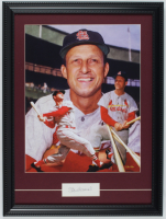 Stan Musial Signed 15x20 Custom Framed Cut Display with Textured Art Print (JSA COA) at PristineAuction.com