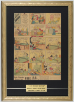"1939 Original Disney ""Mickey Mouse"" Comic Strip 15x21 Custom Framed Display at PristineAuction.com"