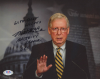 "Mitch McConnell Signed 8x10 Photo Inscribed ""With Best Wishes"" & ""Majority Leader USS"" (PSA COA) at PristineAuction.com"