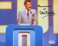 """Alex Trebeck Signed """"Jeopardy"""" 8x10 Photo Inscribed """"The Answer Is"""" (PSA COA) at PristineAuction.com"""