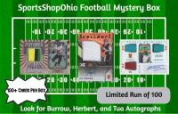 SportsShopOhio Football Card Mystery Box (Burrow/Herbert/Tua Autograph Edition) at PristineAuction.com