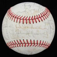 1987 All-Star Game Baseball Team-Signed by (28) with Mark McGwire, Wade Boggs, Ricky Henderson, Cal Ripken Jr., Dave Winfield, Bret Saberhagen (JSA ALOA) at PristineAuction.com