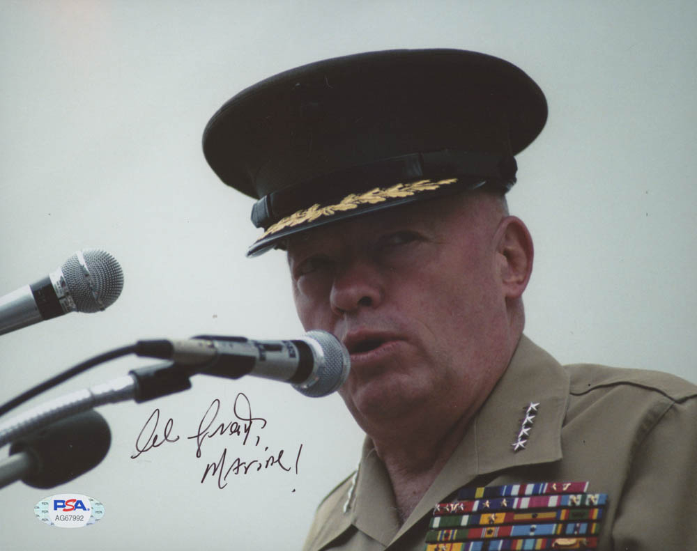 """Alfred Gray Signed 8x10 Photo Inscribed """"Marine!"""" (PSA COA) at PristineAuction.com"""