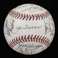 2000 All-Star Game Baseball Team-Signed by (28) with Mariano Rivera, Joe Torre, Roberto Alomar, Bernie Williams, Ray Durham, Jorge Posada (JSA ALOA) at PristineAuction.com