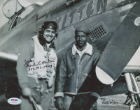 "Charles McGee Signed 8x10 Photo Inscribed ""Captain"", ""302 F.S. -1944"", ""C/C"" & ""Nate Wilson"" (PSA COA) at PristineAuction.com"