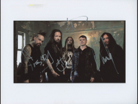 "James ""Munky"" Shaffer, Reginald ""Fieldy"" Arvizu & Jonathan Davis Signed ""Korn"" 8x10 Photo (JSA ALOA) at PristineAuction.com"