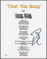 "Robin Zander Signed ""That 70's Song"" 8x10 Lyric Sheet (JSA COA) at PristineAuction.com"
