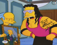 "Bret ""Hitman"" Hart Signed ""Simpsons""  8x10 Photo (PSA COA) at PristineAuction.com"