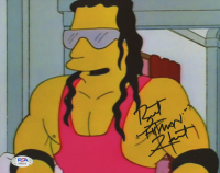 "Bret ""Hitman"" Hart Signed ""Simpsons""  8x10 Photo (PSA COA) at PristineAuction.com"