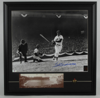 Ted Williams Signed Red Sox 23x23 Custom Framed Photo Display with Fenway Park Panorama & Pin (PSA LOA - Graded 10 & Williams Hologram) at PristineAuction.com