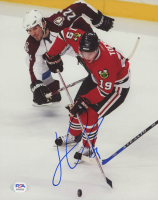 Jonathan Toews Signed Blackhawks 8x10 Photo (PSA COA) at PristineAuction.com