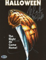 "Nick Castle & Jamie Lee Curtis Signed ""Halloween"" 8x10 Photo (Beckett COA) at PristineAuction.com"