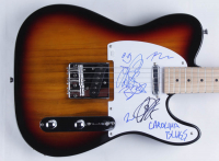 """Blues Traveler Signed 39"""" Electric Guitar Band-Signed by (5) with John Popper, Chan Kinchla, Brendan Hill, Tad Kinchla, & Bed Wilson Inscribed """"Carolina Blues"""" (JSA COA) at PristineAuction.com"""
