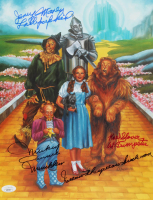 """The Wizard Of Oz"" 11x14 Photo Cast-Signed by (4) with Mickey Carroll, Jerry Maren, Donna Stewart-Hardaway, Karl Slover with (4) Inscriptions (JSA COA) at PristineAuction.com"