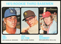 1973 Topps #615 Rookie Third Basemen / Ron Cey / John Hilton RC / Mike Schmidt RC at PristineAuction.com