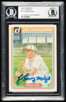 Johnny Mize Signed 1983 Donruss HOF Heroes #10 (BGS Encapsulated) at PristineAuction.com