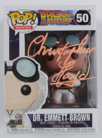 "Christopher Lloyd Signed ""Back To The Future"" #50 Dr. Emmett Brown Funko Pop Figure (Beckett COA) at PristineAuction.com"