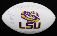 Derrius Guice Signed LSU Tigers Logo Football (JSA COA) at PristineAuction.com