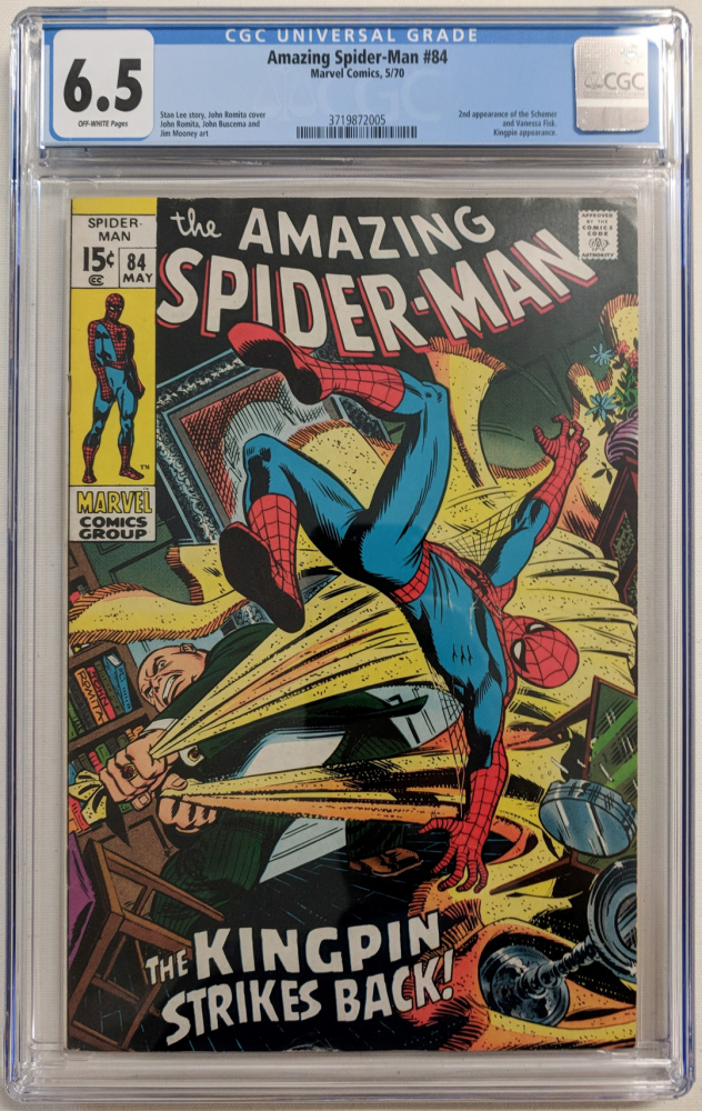 "1970 ""Amazing Spider-Man"" Issue #84 Marvel Comic Book (CGC 6.5) at PristineAuction.com"