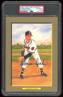 Warren Spahn Signed Braves LE 1987 Perez Steele Great Moments #14 (PSA Encapsulated) at PristineAuction.com
