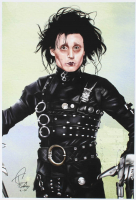 Tony Santiago - Edward Scissorhands - Johnny Depp 13x19 Signed Lithograph (PA COA) at PristineAuction.com