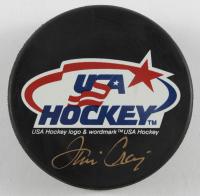 Jim Craig Signed Team USA Logo Hockey Puck (JSA COA) at PristineAuction.com
